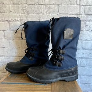 SOREL Blue Woman's Snow Winter Boots with Liners
